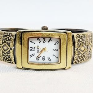 Chico's Gold Cuff Bracelet Watch NWOT